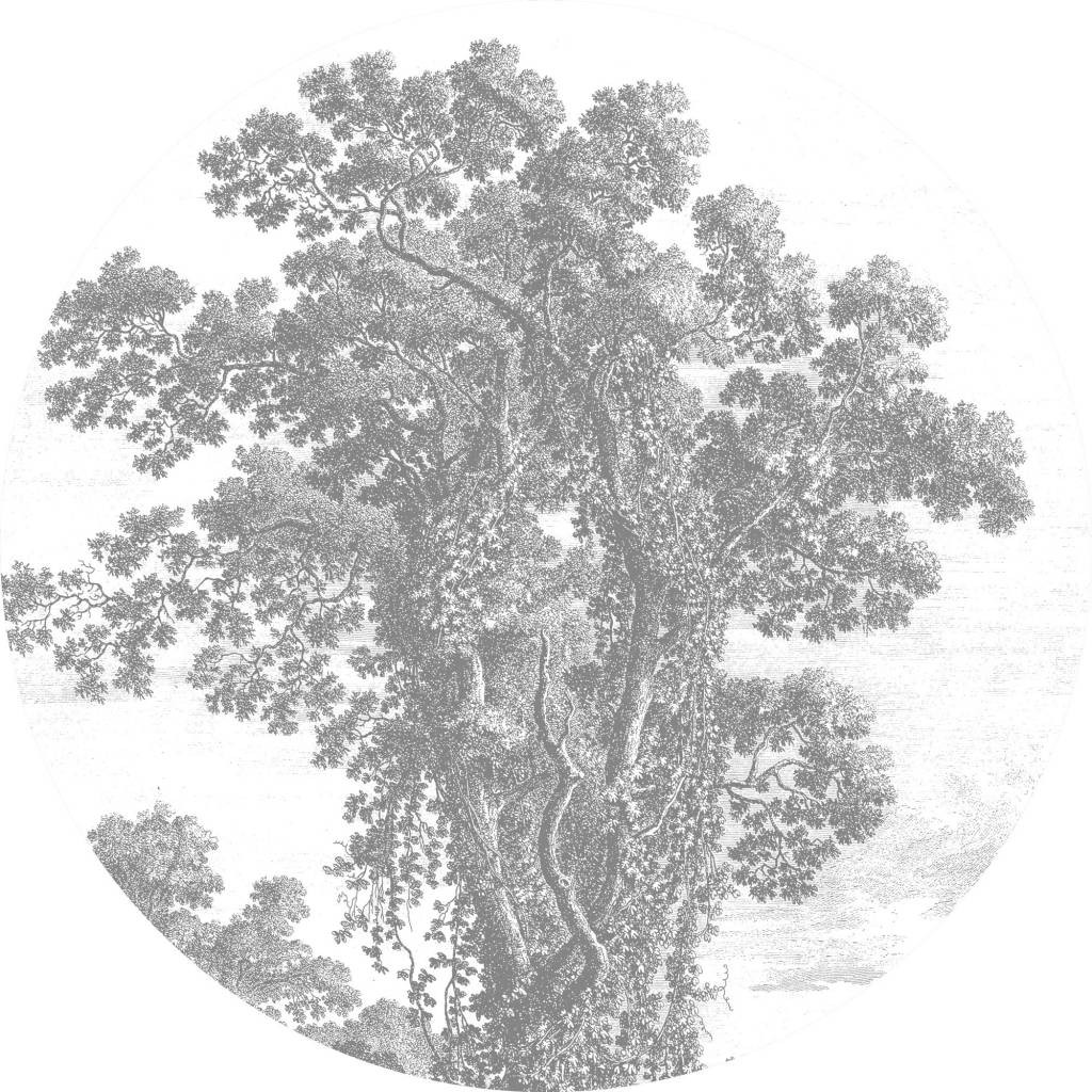 KEK Wallpaper Circle, Engraved Tree diameter van 142,5 of 190 cm-8719743885486-30