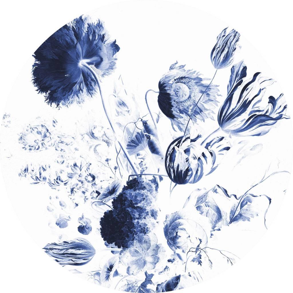 KEK Wallpaper Circle, Royal Blue Flowers diameter van 142,5 of 190 cm-8719743885370-30