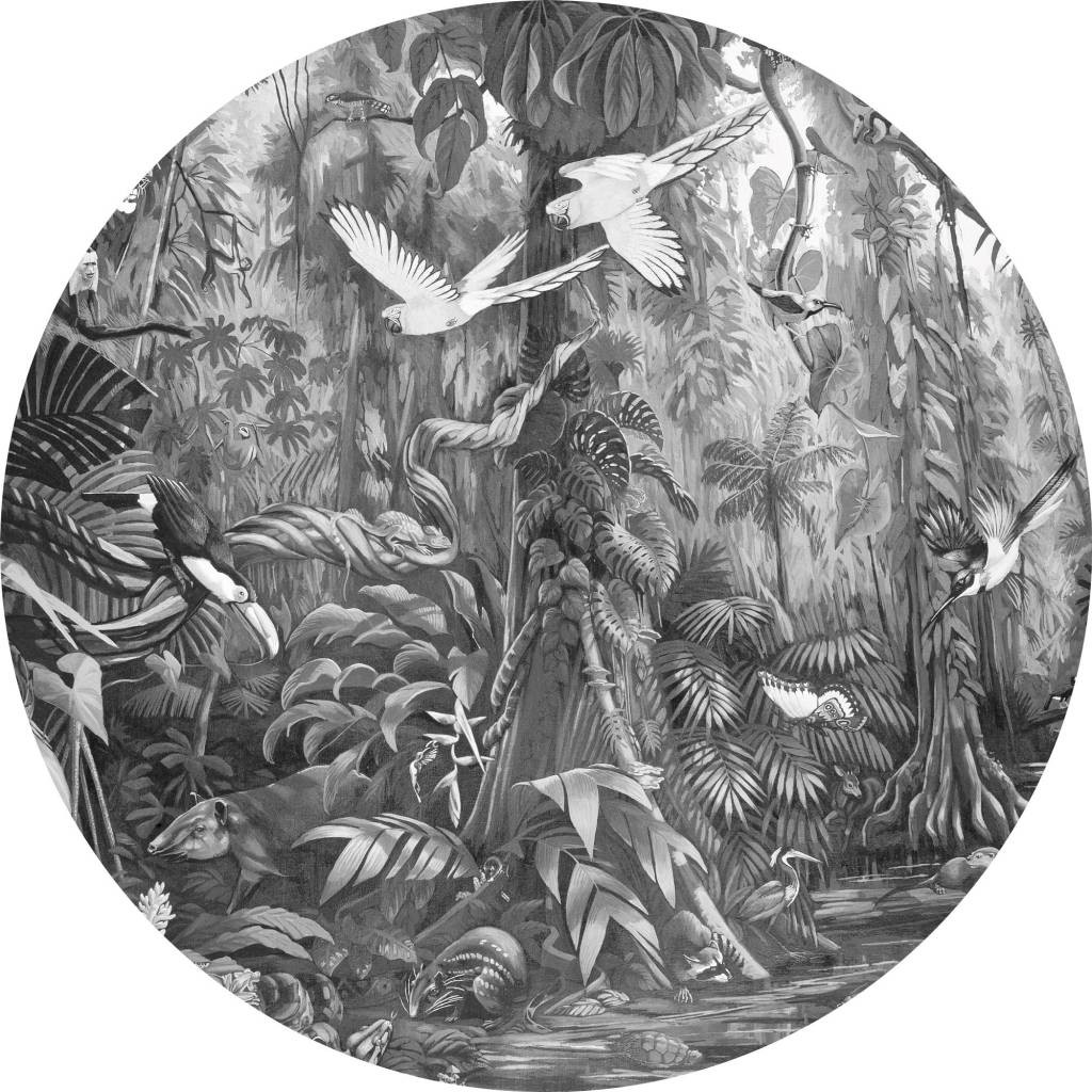 KEK Wallpaper Circle, Tropical Landscape diameter van 142,5 of 190 cm-8719743885417-30