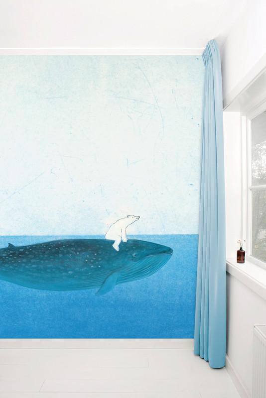 KEK Amsterdam Fotobehang op de rug van een walvis-8718754015943-31