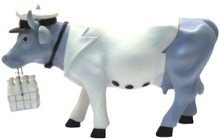 Cow Parade Vaca Milkman (Small)-4040491465540-36