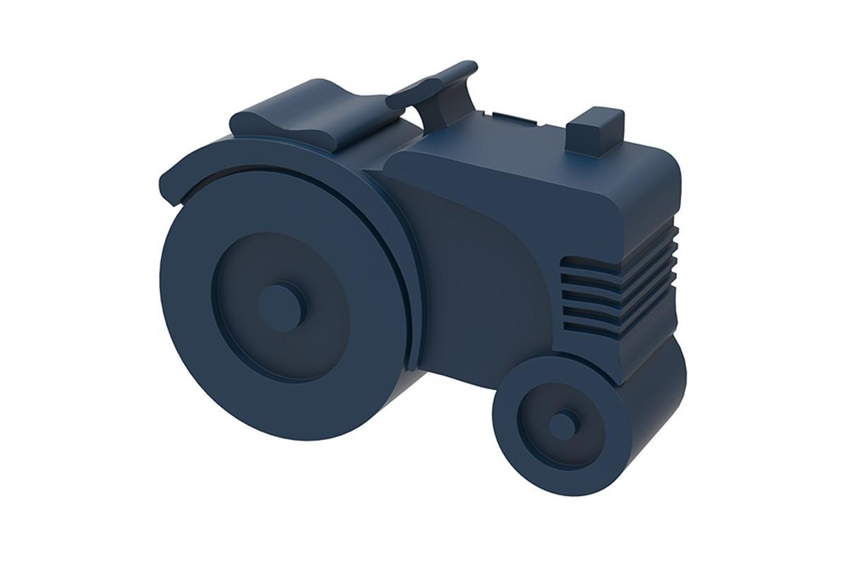 Blafre lunchbox tractor (rond model met vakverdeling) donker blauw-7090015483922-31