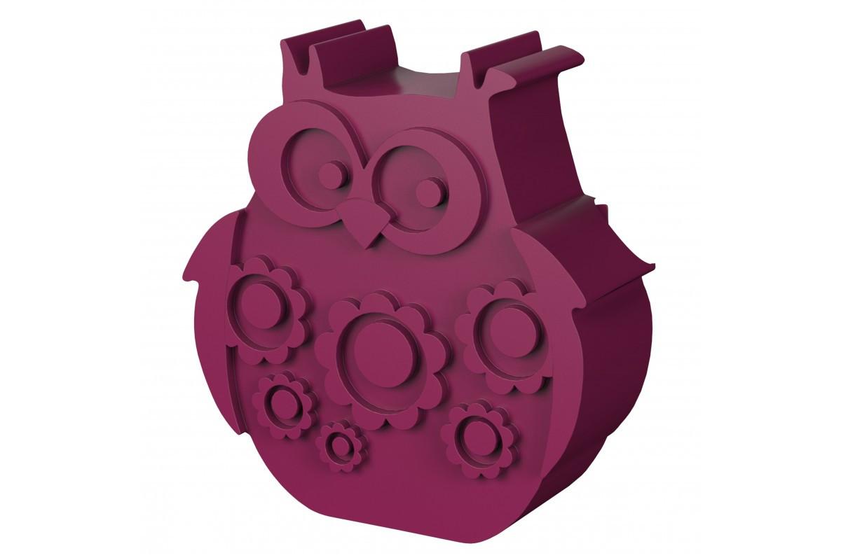 Blafre lunchbox uil fuchsia (rond model met vakverdeling)-7090015483939-31
