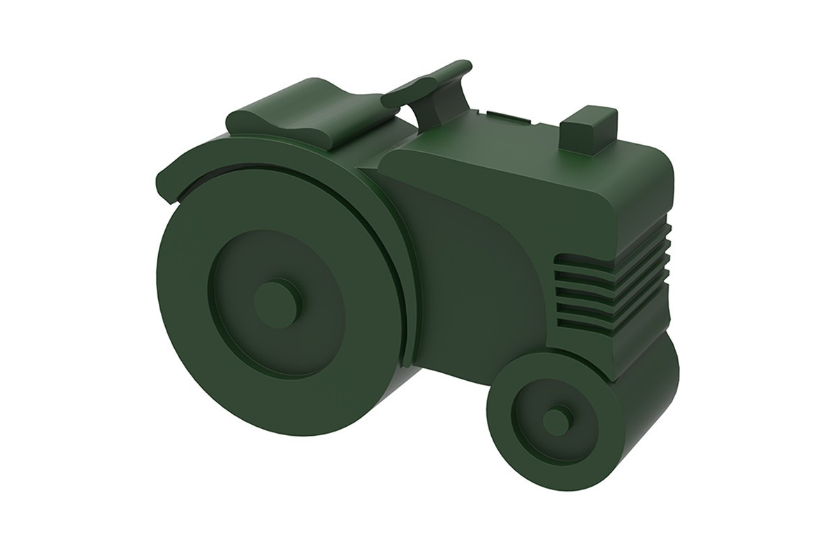Blafre lunchbox tractor groen (rond)-7090015483946-31