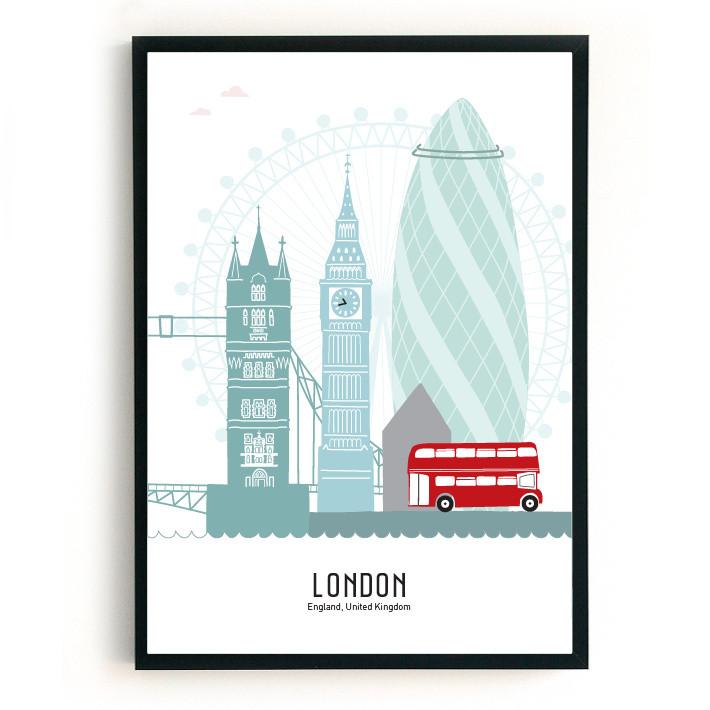 Mevrouw Emmer Poster Londen B2 kleur-1000000000000000-31