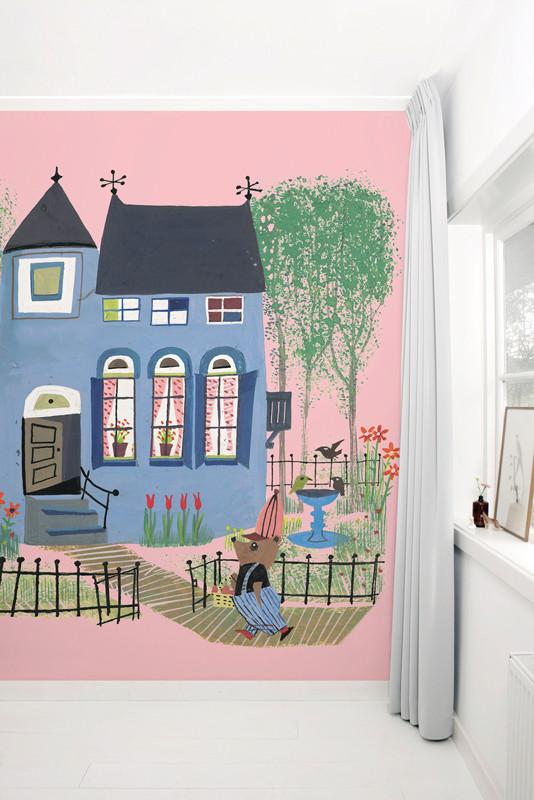 KEK Amsterdam fotobehang Beer voor het Blauwe Huis, roze-8718754016292-31
