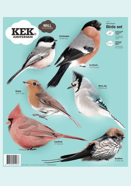 Kek Amsterdam Muurstickers Vogels Set-8718754014397-31