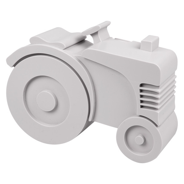 Blafre lunchbox tractor grijs (rond)-7090015487876-32