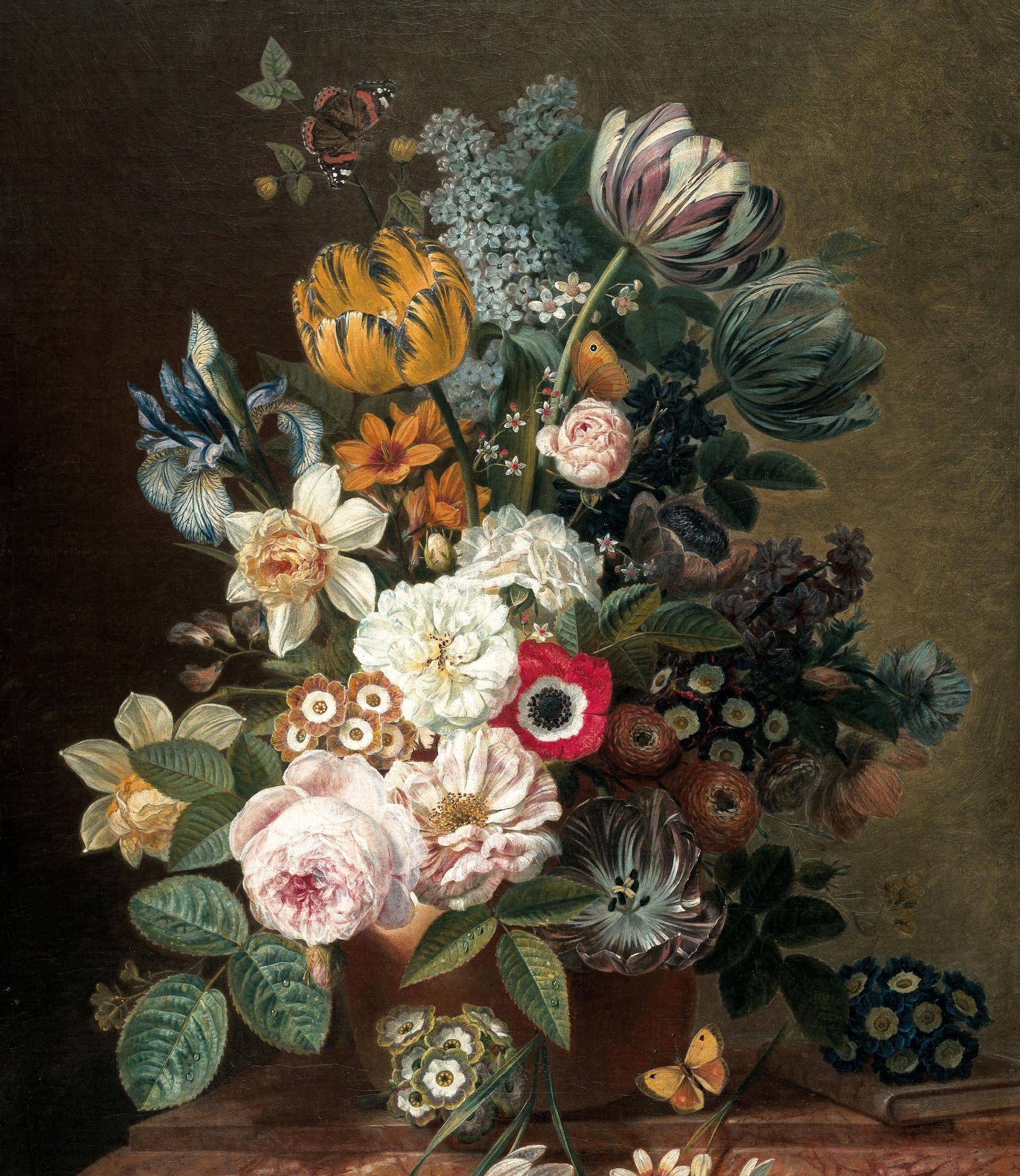 KEK Wallpaper Panel XL, Golden Age Flowers, 190x220cm-8719743888746-322
