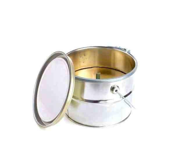 Rustik Lys Buitenkaars Goud Bucket 18x14cm-4752046041252-31