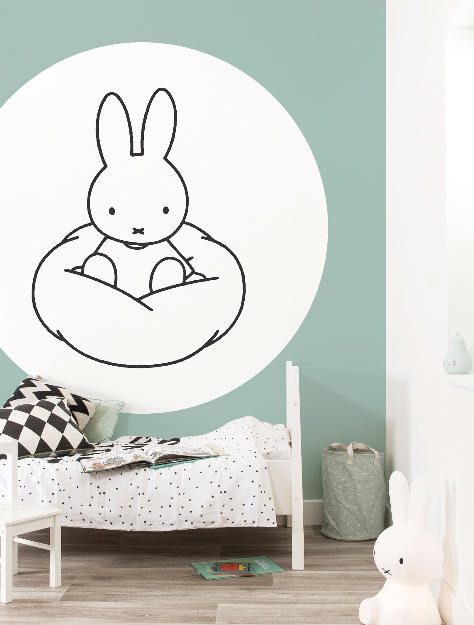 KEK Wallpaper Circle, Behangcirkel Nijntje Wolk, ø 190 cm-8719743886049-39