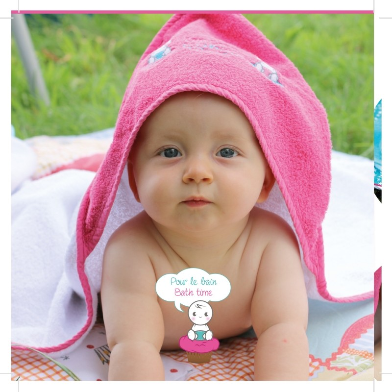 Cupcake Babies babybadje, roze badje/ roze badcape en blauw badeendje-635346413087-33