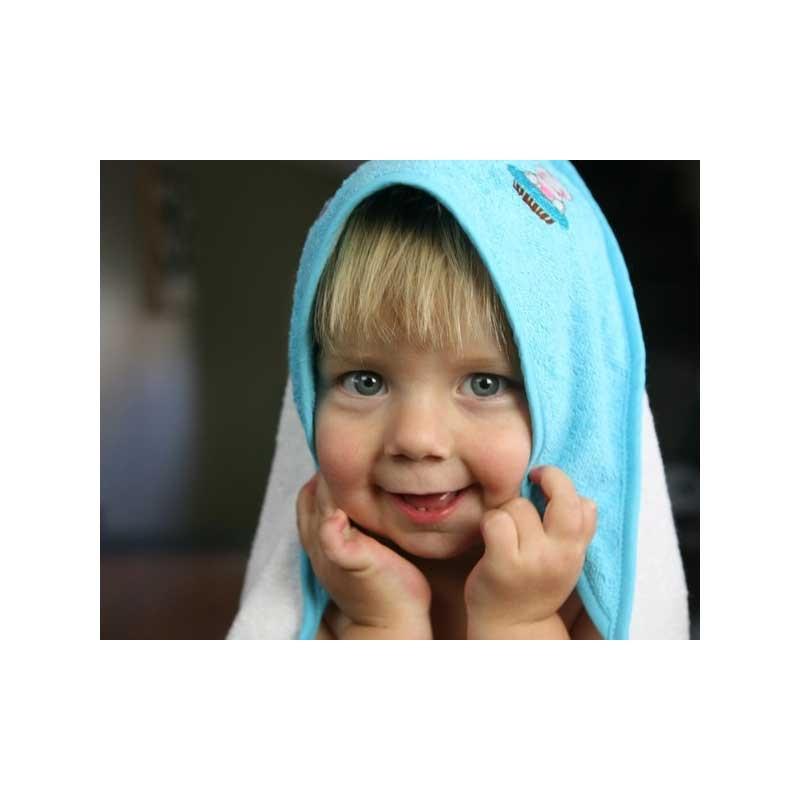 Cupcake Babies babybadje, turquoise badje/ blauwe badcape/ blauw badeendje-635346413148-31