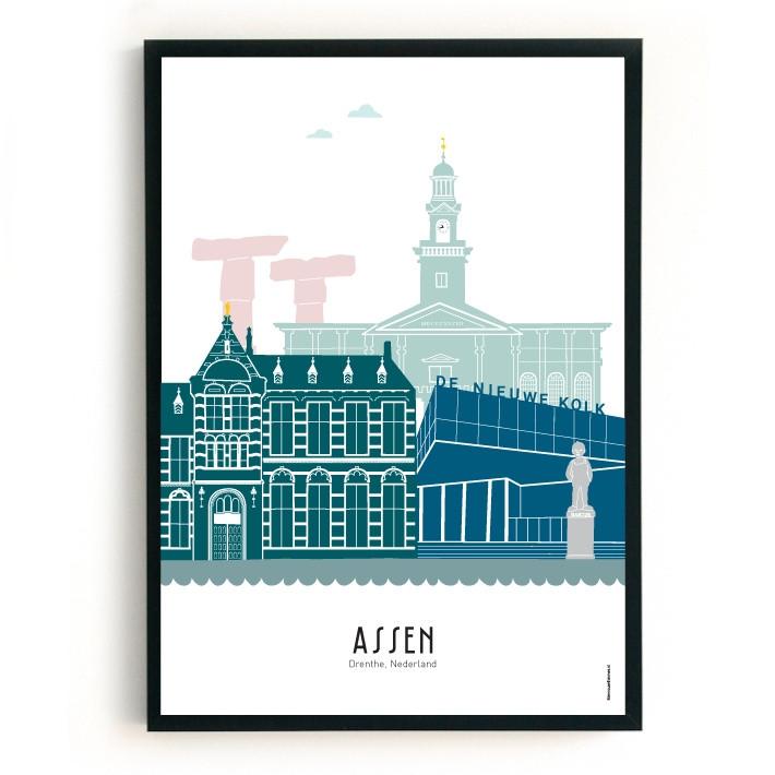 Mevrouw Emmer Poster Assen A3 kleur-675485791-32