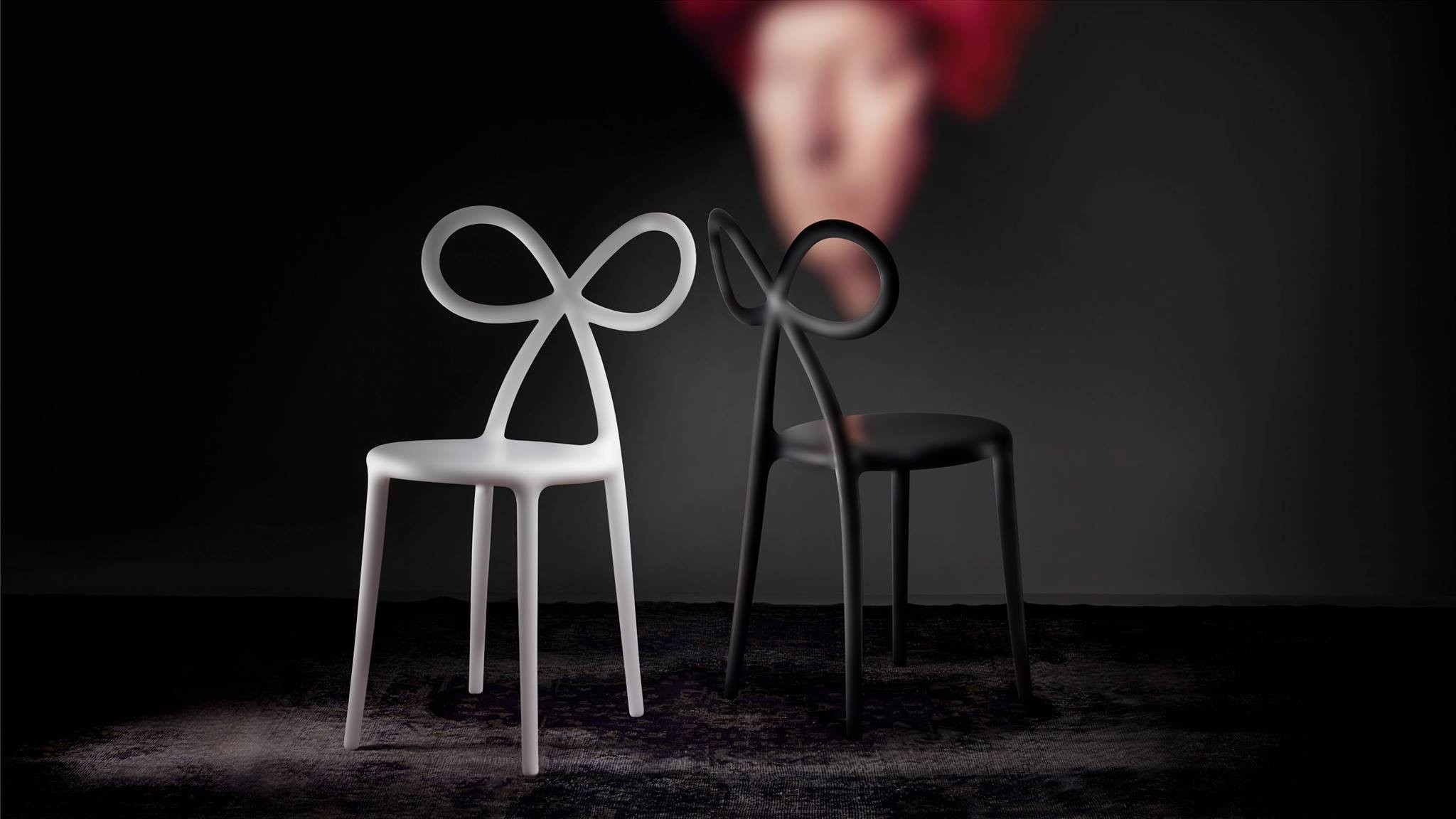 Qeeboo Ribbon Chair White set van 2 stuks-8052049050654-33