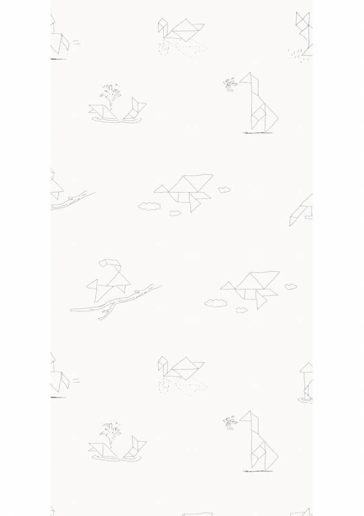 Kek Amsterdam X Martijn van der Linden behang Tangram Animal Sketches, 97.4 x 280 cm-8719743880344-31