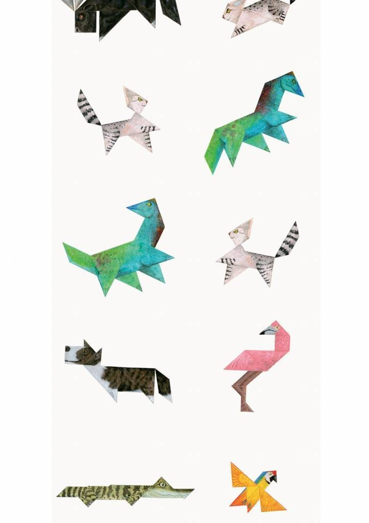 Kek Amsterdam X Martijn van der Linden behang Tangram Animals, 97.4 x 280 cm-8719743880313-31
