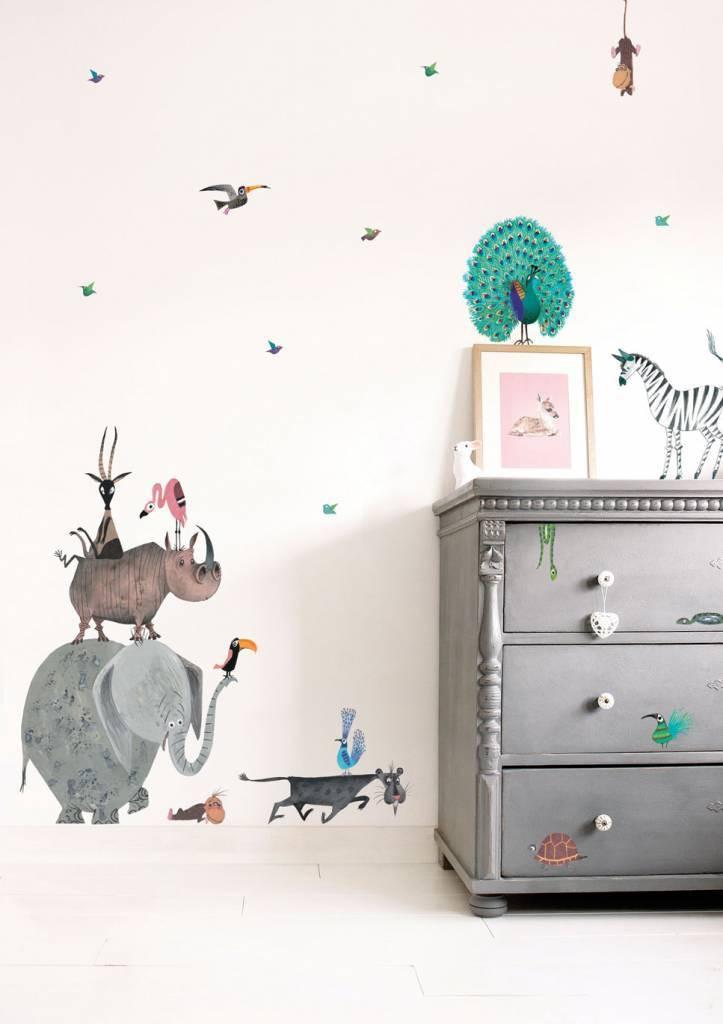 Kek Amsterdam Fiep Westendorp muurstickers Animals XL, 85 x 119 cm-8719743880214-31