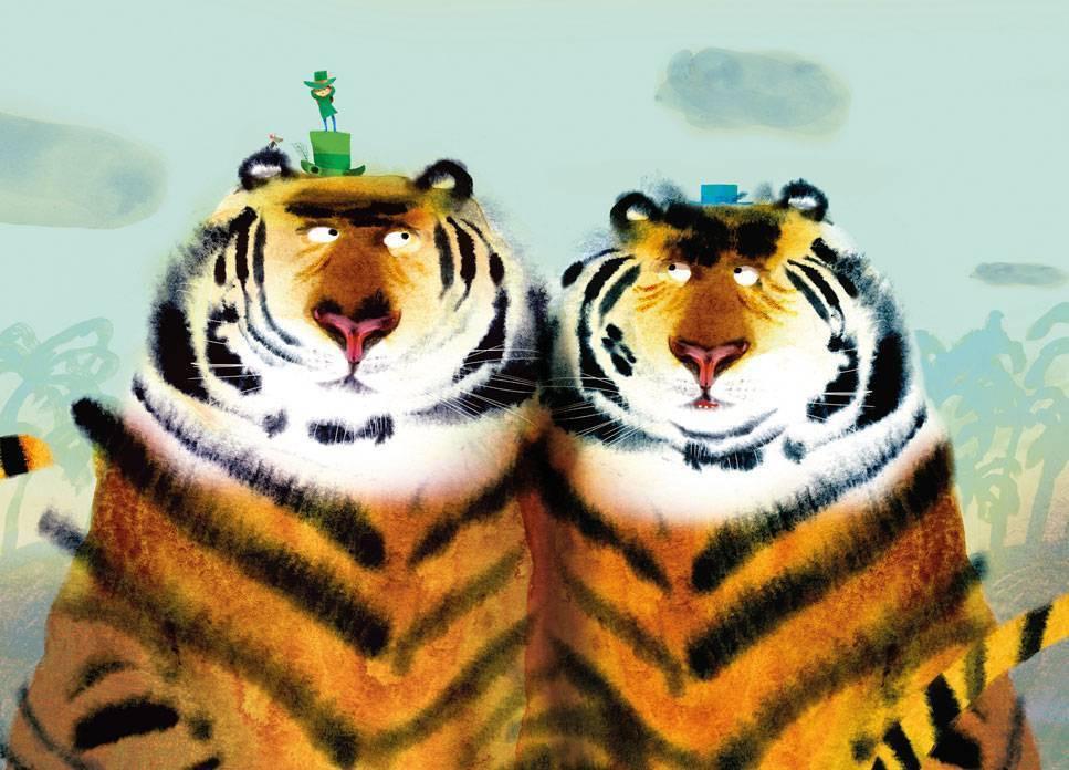 Kek Amsterdam Fotobehang Two Tigers, 389.6 x 280 cm-8719743880610-31