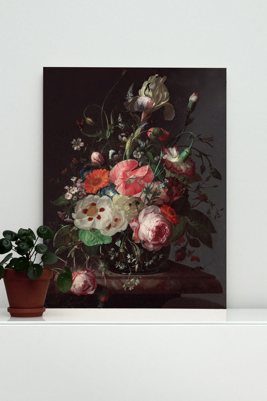 KEK Amsterdam Wood print Golden Age Flowers 3 M-8718754019392-31