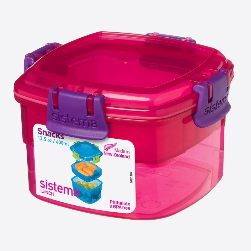 SISTEMA LUNCH SNACKDOOS SNACKS ROZE 400ML-9414202110152-31