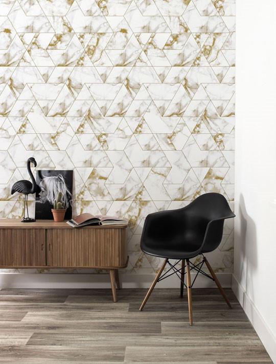 Kek Amsterdam Behang Marble Mosaic, Goud, 97.4 x 280 cm-8719743886674-34