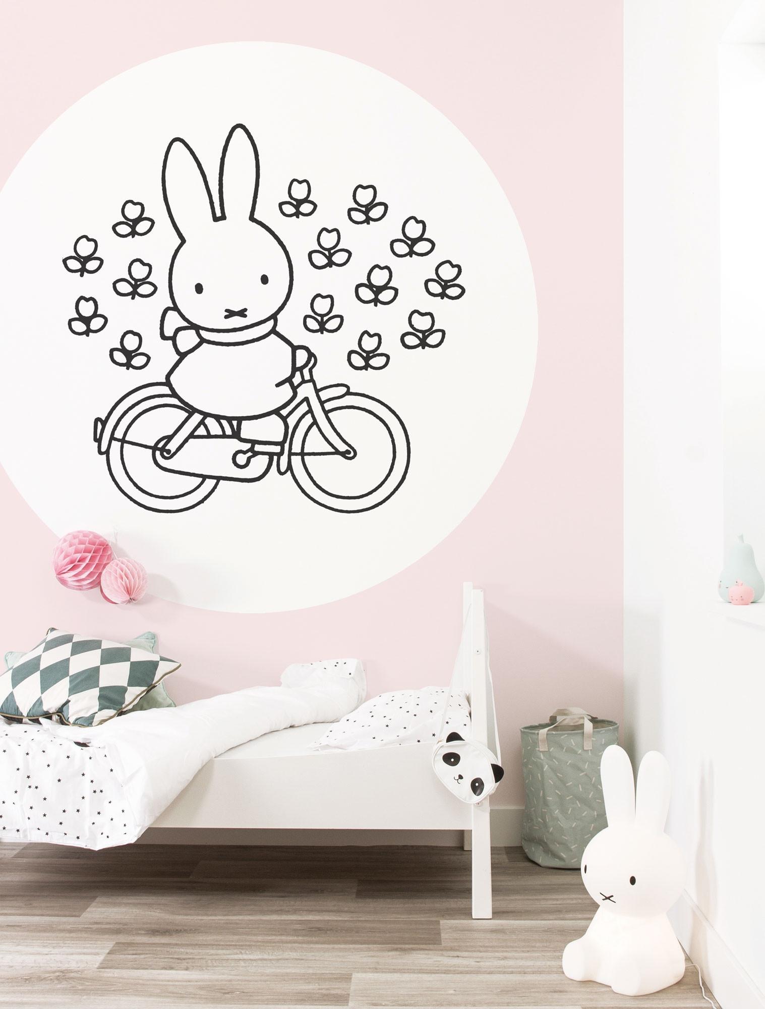 KEK Wallpaper Circle, Behangcirkel Nijntje op de fiets, ø 190 cm-8719743886025-35