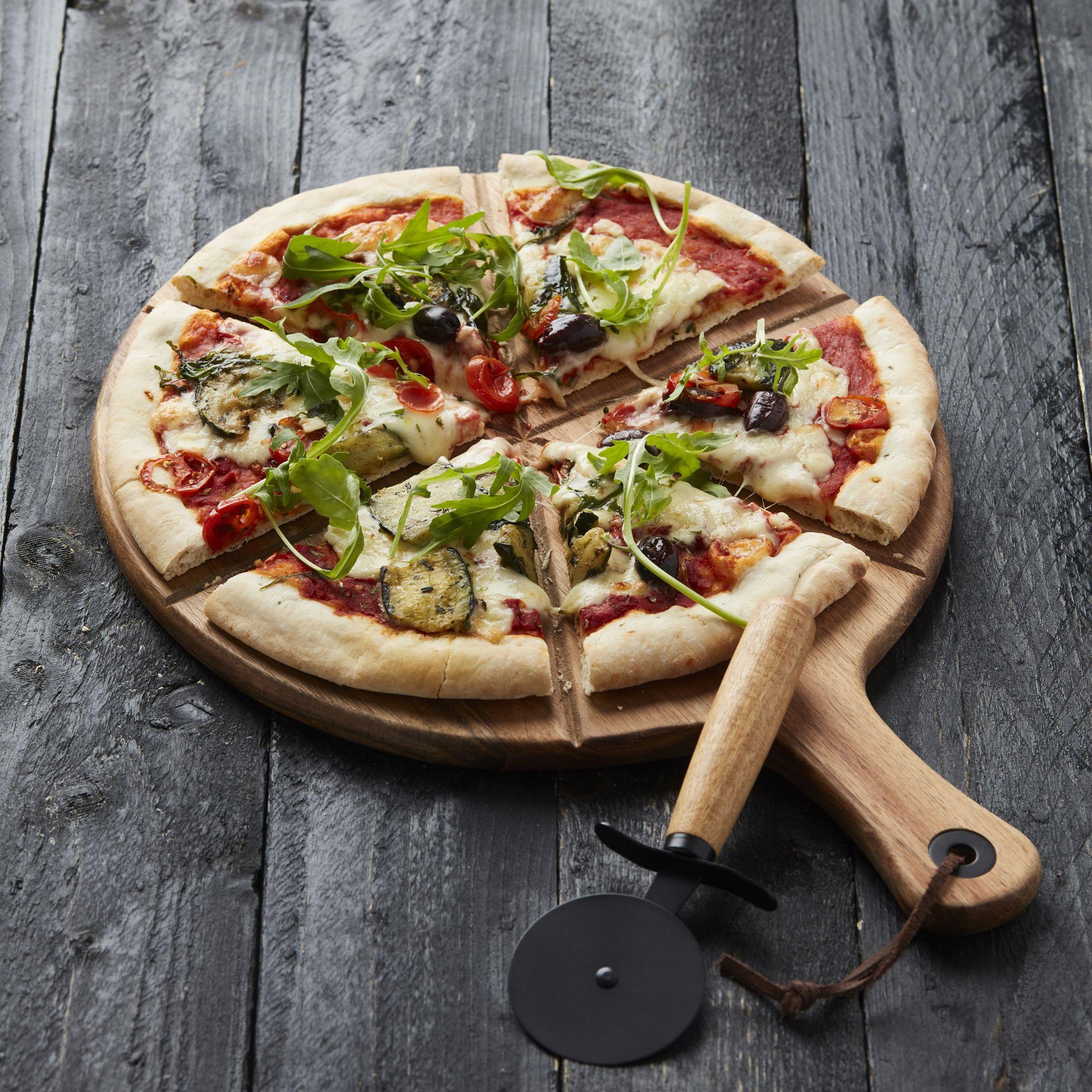 Point Virgule set van pizzames met serveerplank uit acaciahout-5420059833117-33