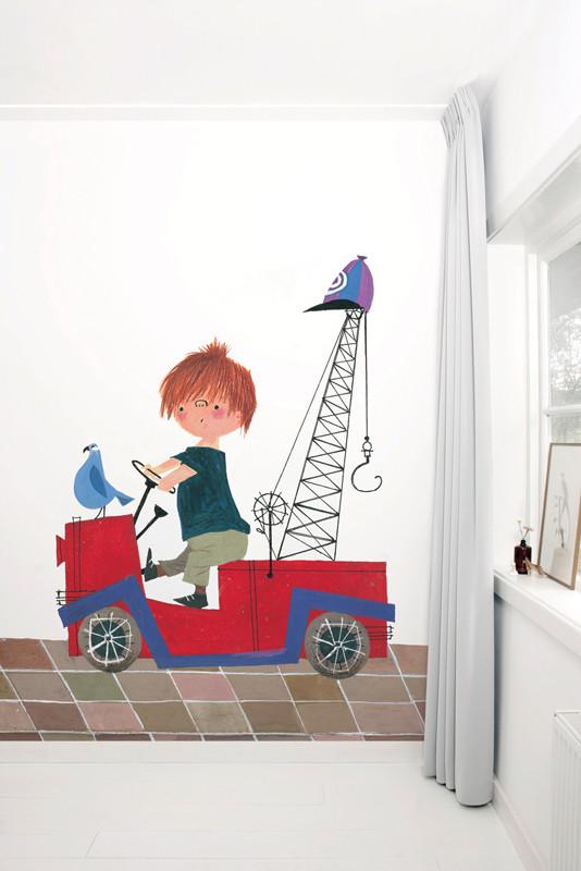 KEK Amsterdam fotobehang Rode Takelwagen-8718754016353-31