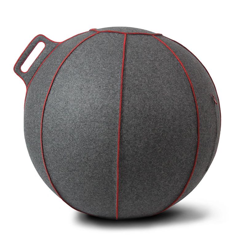 Vluv VELT zitbal Grey-Melange / Red 75 cm-4260534590613-31