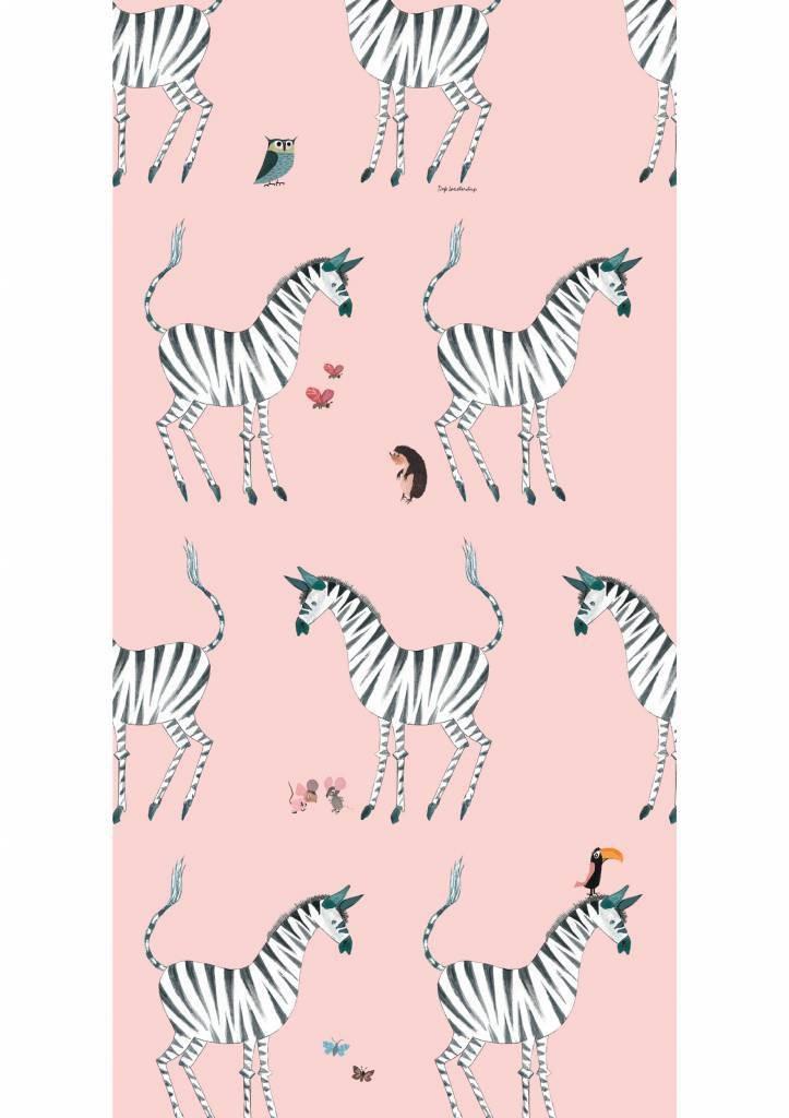Kek Amsterdam Fiep Westendorp behang Zebra, Pink, 97.4 x 280 cm-8719743885776-37