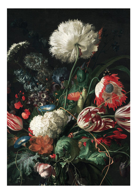 KEK Amsterdam Fotobehang Golden Age Flowers I, 4 vellen-87187540165201-32