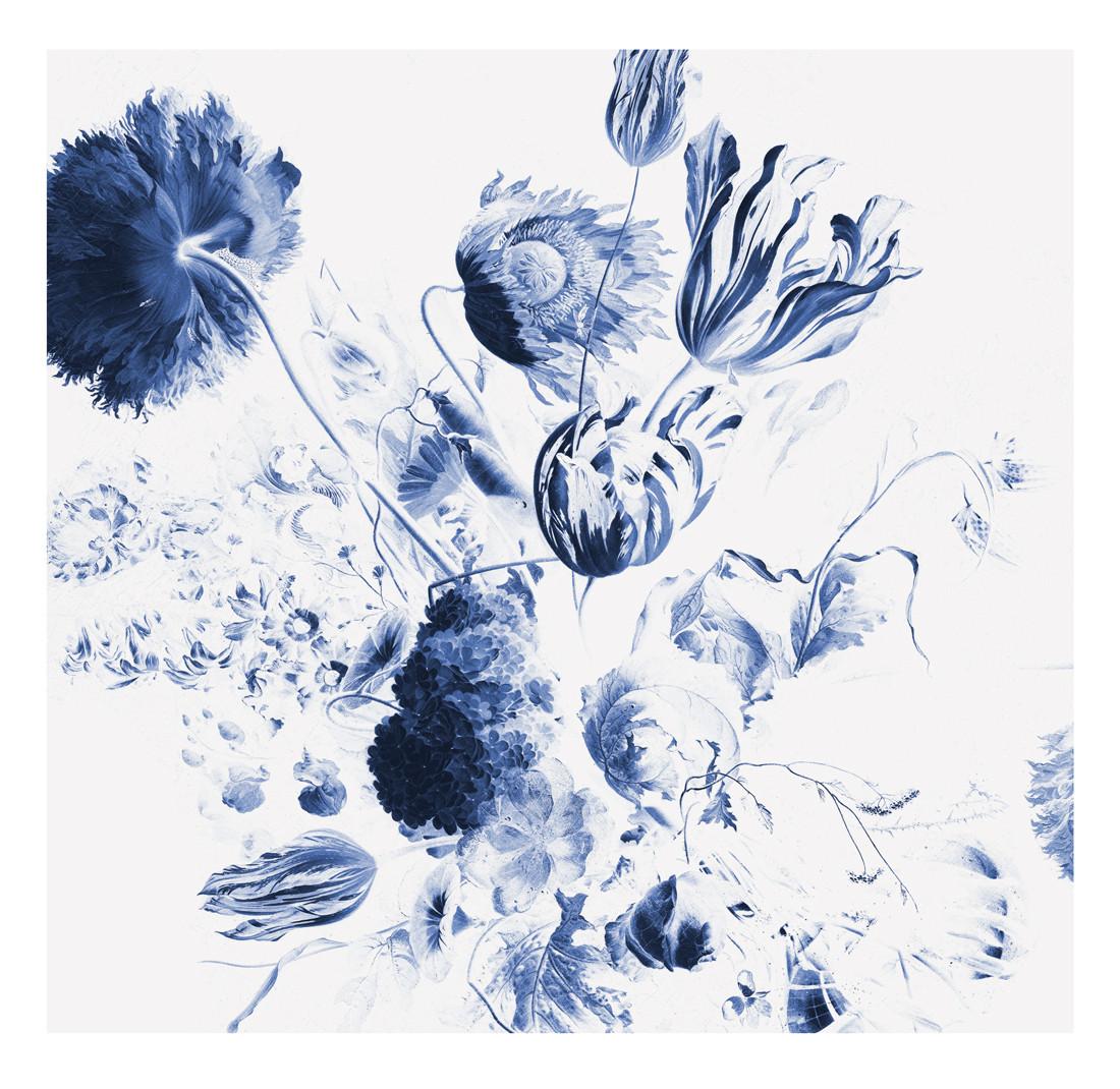 KEK Amsterdam Fotobehang Royal Blue Flowers II, 6 vellen-8718754016704-31