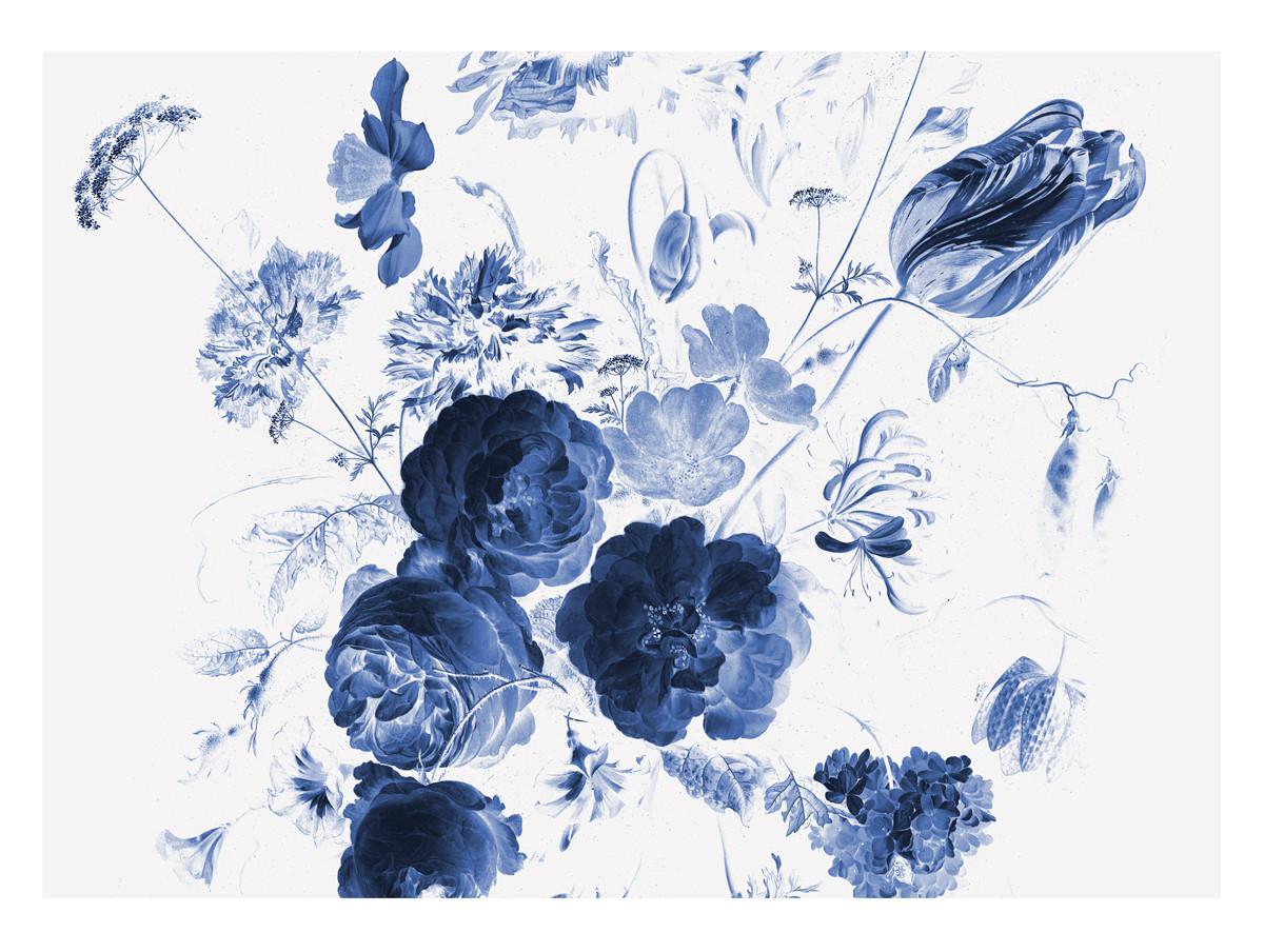 KEK Amsterdam Fotobehang Royal Blue Flowers I, 8 vellen-8718754016759-31