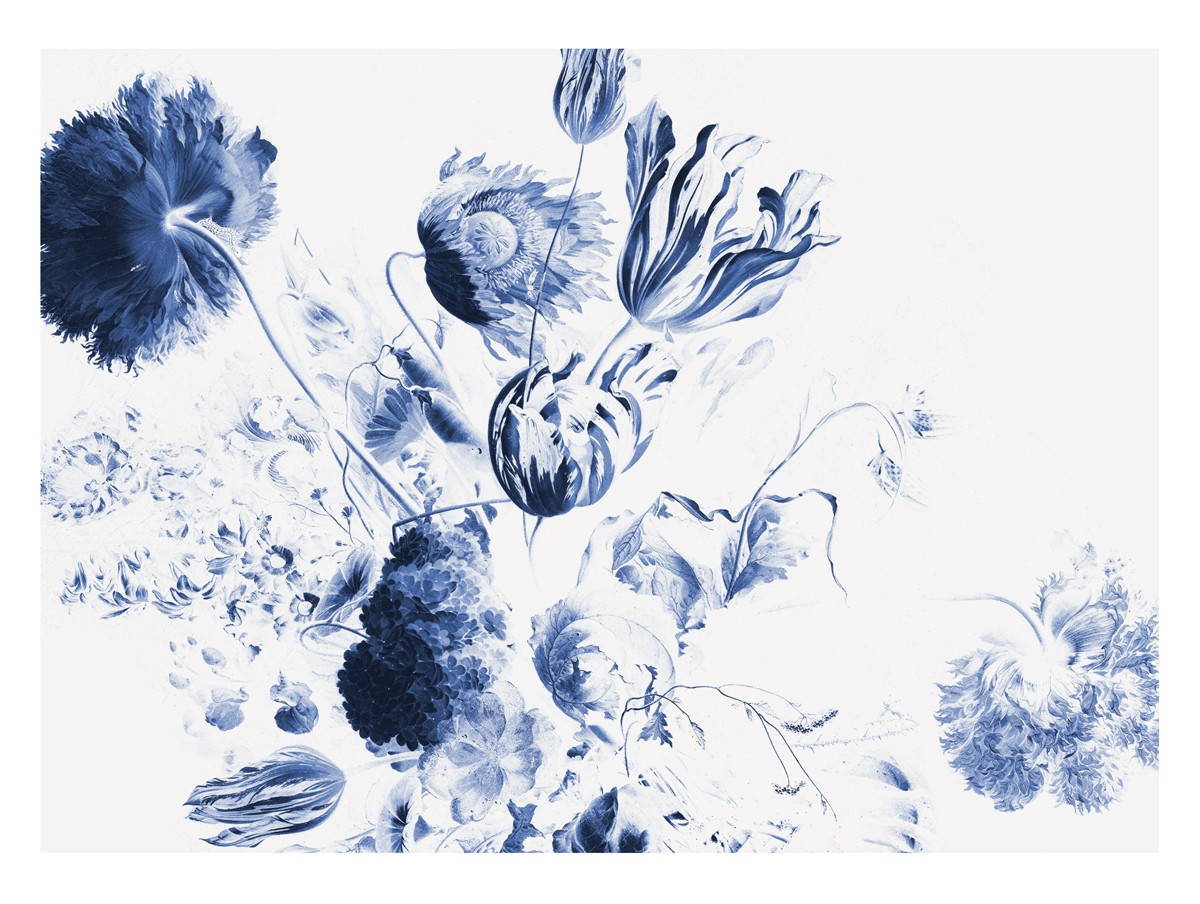 KEK Amsterdam Fotobehang Royal Blue Flowers II, 8 vellen-8718754016766-31
