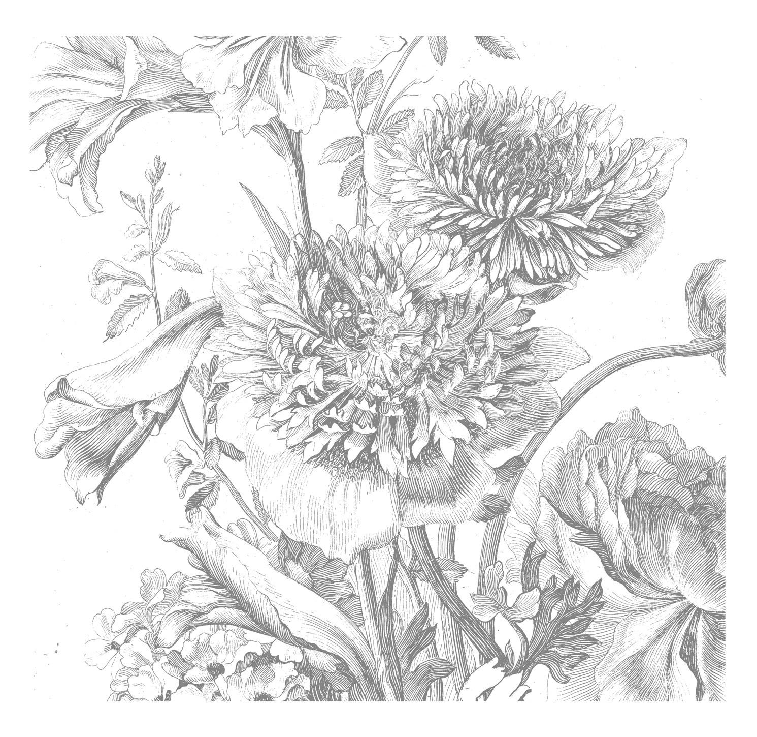 Kek Amsterdam Behang Engraved Flowers IV 292.2x280cm-8718754018517-31