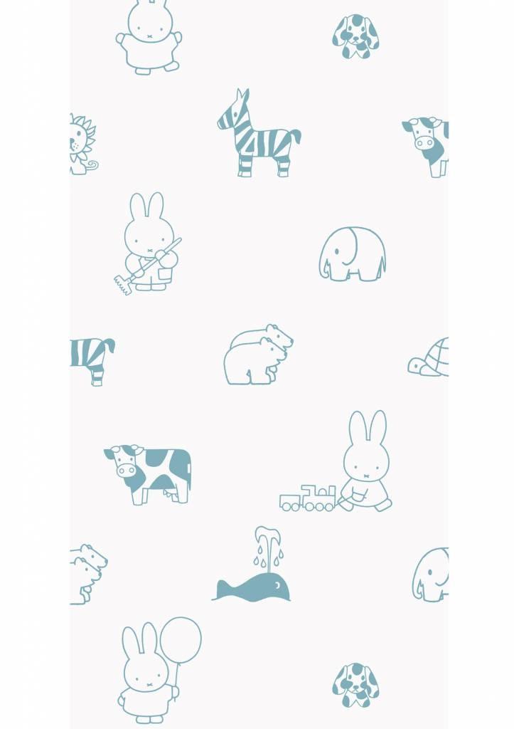 Kek Amsterdam Nijntje behang Outdoor Animals Blue 97.4 x 280 cm-8719743884311-31