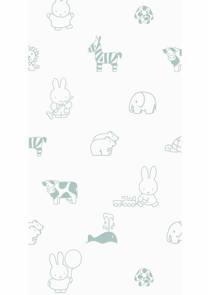 Kek Amsterdam Nijntje behang Outdoor Animals Green 97.4 x 280 cm-8719743884335-31