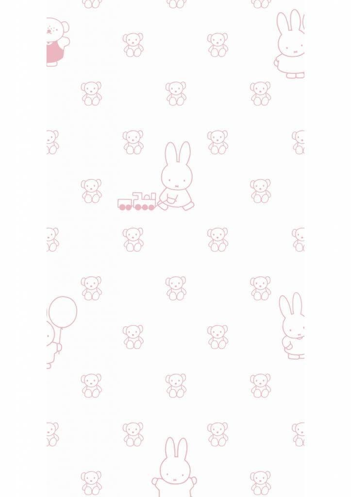Kek Amsterdam Nijntje behang Outdoor Bears Pink 97.4 x 280 cm-8719743884403-31