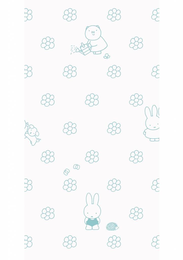 Kek Amsterdam Nijntje behang Outdoor Flowers Mint, 97.4 x 280 cm-8719743884540-31