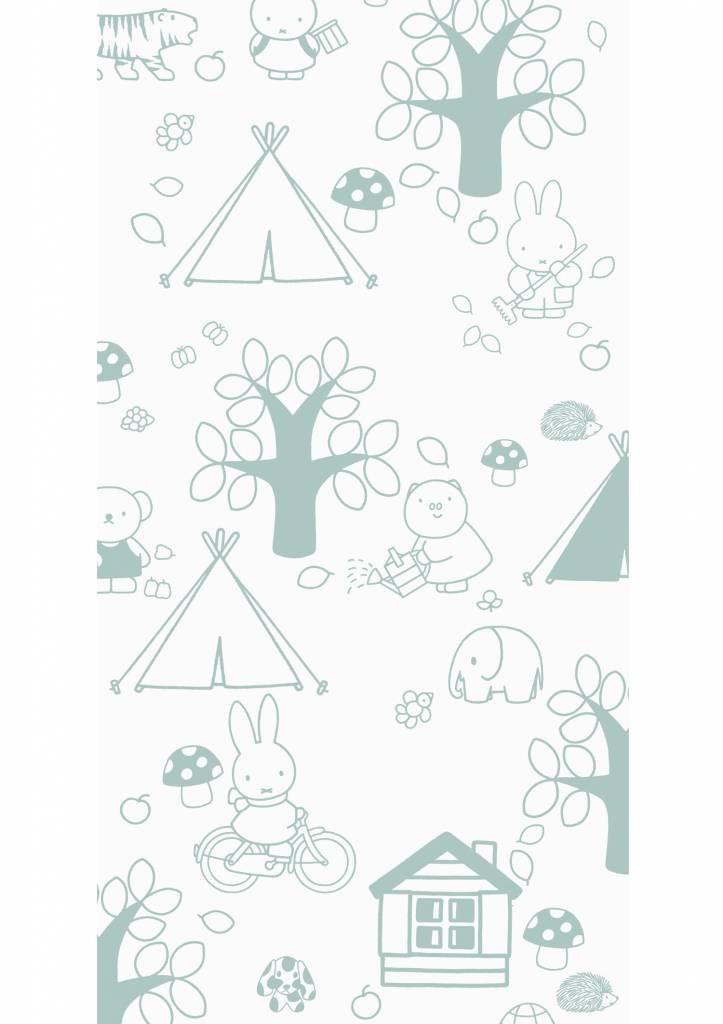 Kek Amsterdam Nijntje behang Outdoor Fun groen, 97.4 x 280 cm-8719743884632-31