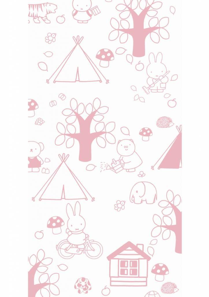 Kek Amsterdam Nijntje behang Outdoor Fun roze, 97.4 x 280 cm-8719743884656-31