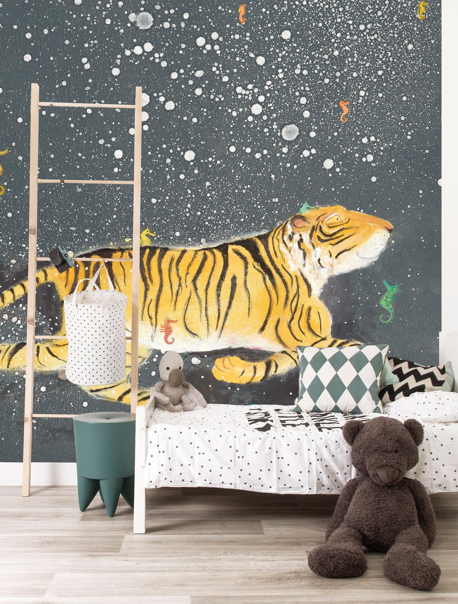 KEK Fotobehang Smiling Tiger, 389.6 x 280 cm-08718754015899-311