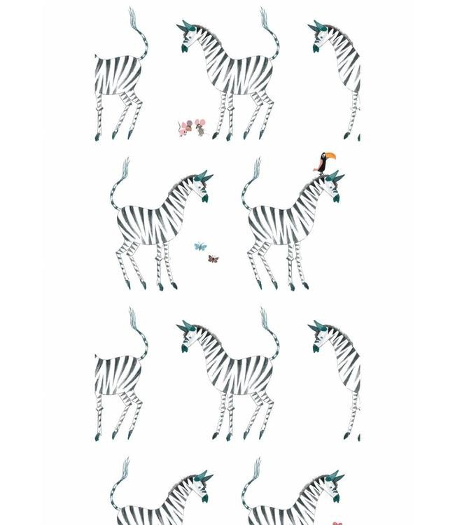 Kek Amsterdam Fiep Westendorp behang Zebra, White, 97.4 x 280 cm-8719743885769-36