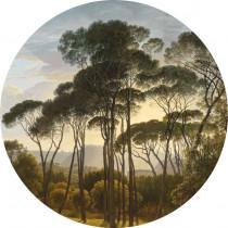 KEK Wallpaper Circle, Golden Age Landscape diameter van 142,5 of 190 cm-8719743885462-20