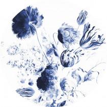 KEK Wallpaper Circle, Royal Blue Flowers diameter van 142,5 of 190 cm-8719743885370-20