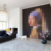"IXXI wanddecoratie ""Pixel . Girl with a pearl"" 224x252-8718858600014-20"
