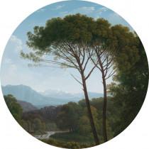 KEK Wallpaper Circle, Golden Age Landscape diameter van 142,5 of 190 cm-8719743885387-20