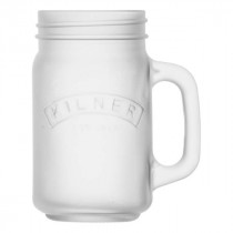 Kilner beker met handgreep en deksel frosted wit 400ml-5010853233956-20