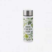 Typhoon Pure slimline fles uit rvs (mini) Green is the New black 190ml-5010853269375-20